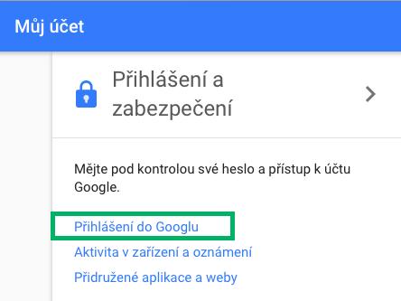 Google - dvoufázové ověení
