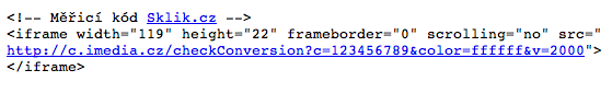 Konverzní kód Skliku