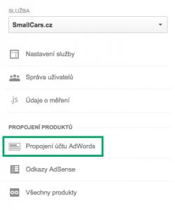 Propojení AdWords s Google Analytics