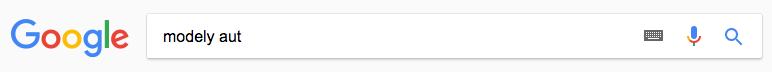 Vyhledávací dotaz Google