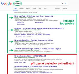 Výsledky vyhledávání - Google