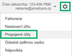 Google AdWords - propojené účty